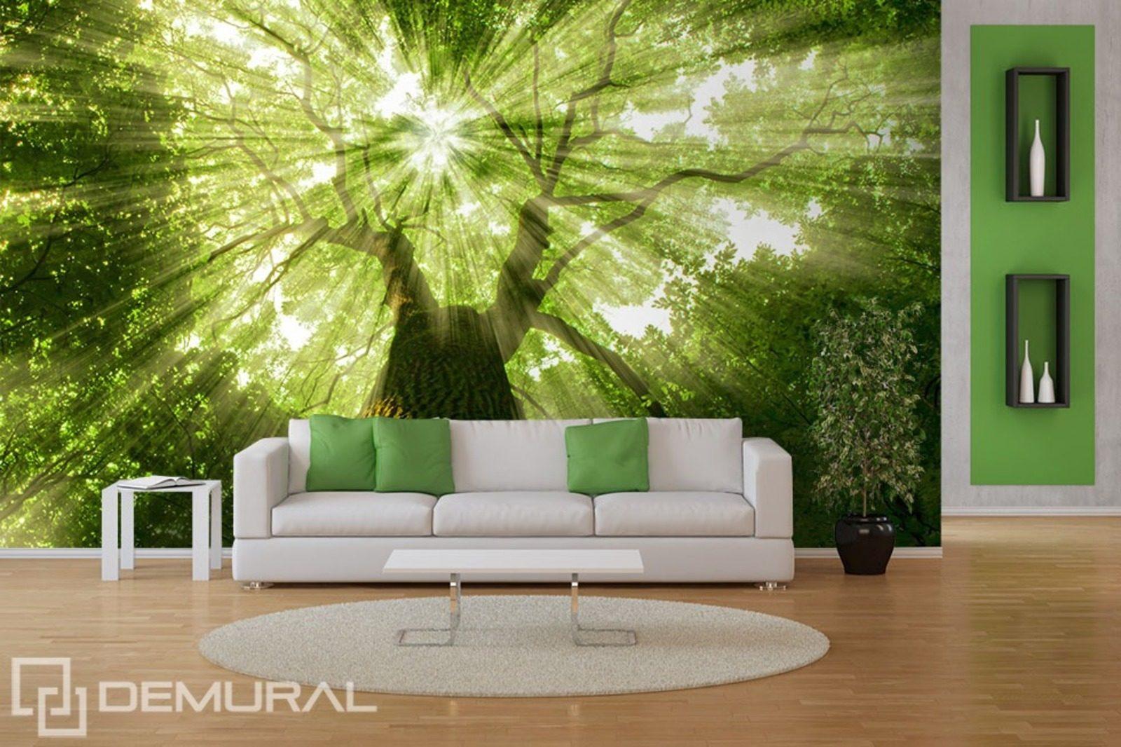 sunbeams in greenery forest wallpaper mural photo window wall mural wall mural ideas uk houseandgarden co uk
