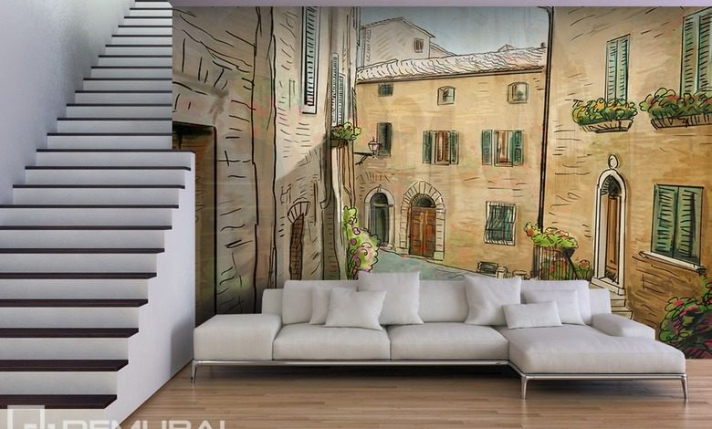 a siesta in a living room streets wallpaper mural photo wallpapers demural