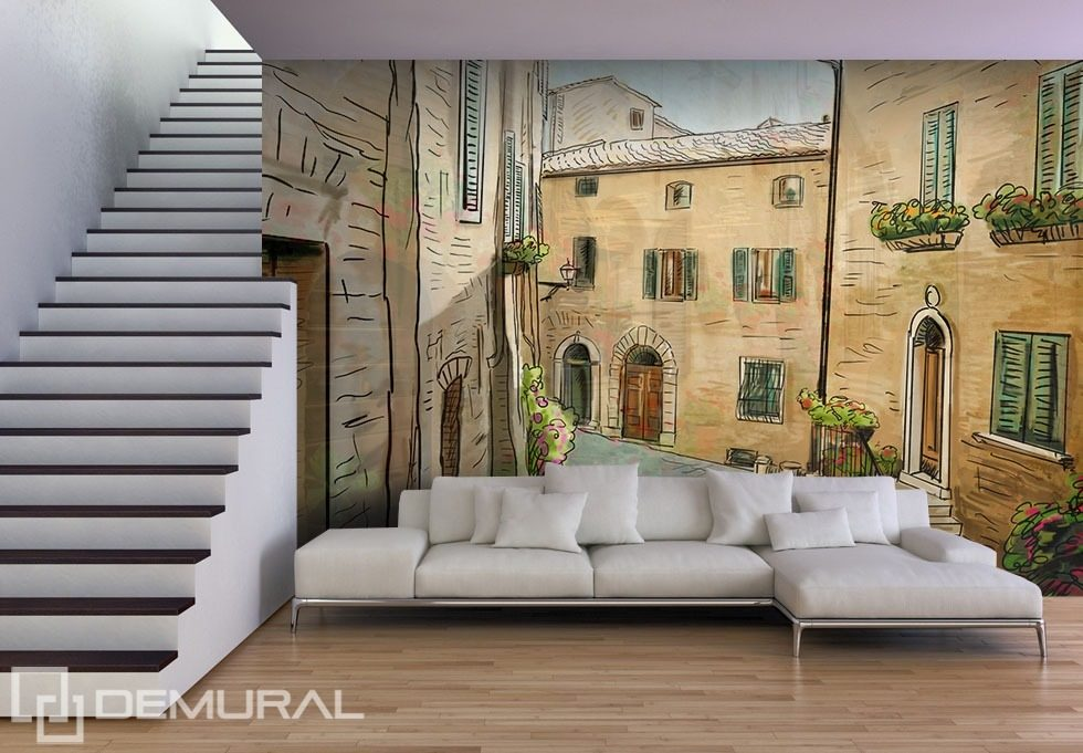 living room wall murals a siesta in a living room streets wallpaper mural 12706