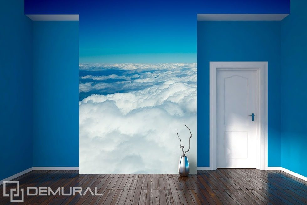 Blue-white decoration of the sky Sky wallpaper mural Photo wallpapers Demural