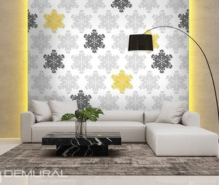 colourful snowflakes patterns wallpaper mural photo wallpapers demural