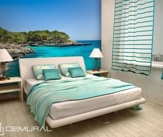 azure holidays landscapes wallpaper mural photo wallpapers demural