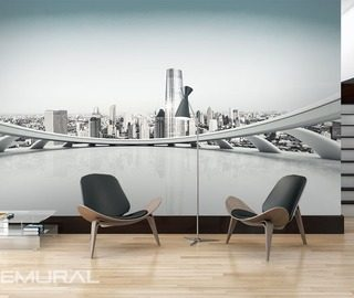 on the panorama terrace cities wallpaper mural photo wallpapers demural