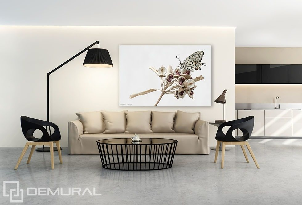 relaxing butterfly posters in living room posters demural. Black Bedroom Furniture Sets. Home Design Ideas