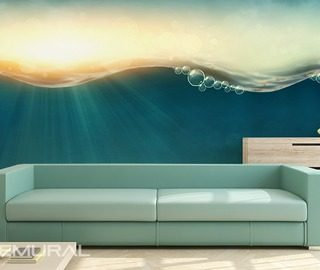 under the waves living room wallpaper mural photo wallpapers demural