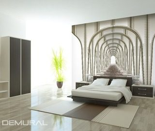 symmetric tunnel optically magnifying wallpaper mural photo wallpapers demural
