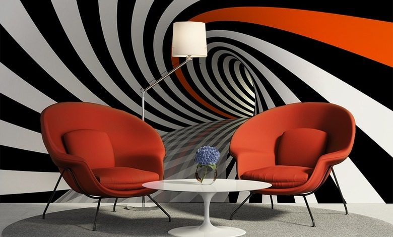 twisted tunnel three dimensional wallpaper mural photo wallpapers demural