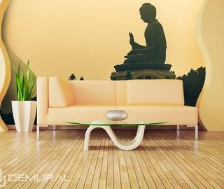 its time for relaxation buddah oriental wallpaper mural photo wallpapers demural