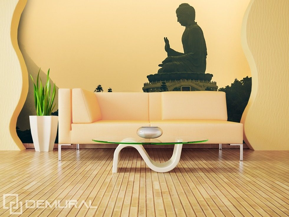 It s time for relaxation buddah oriental wallpaper for Asian mural wallpaper