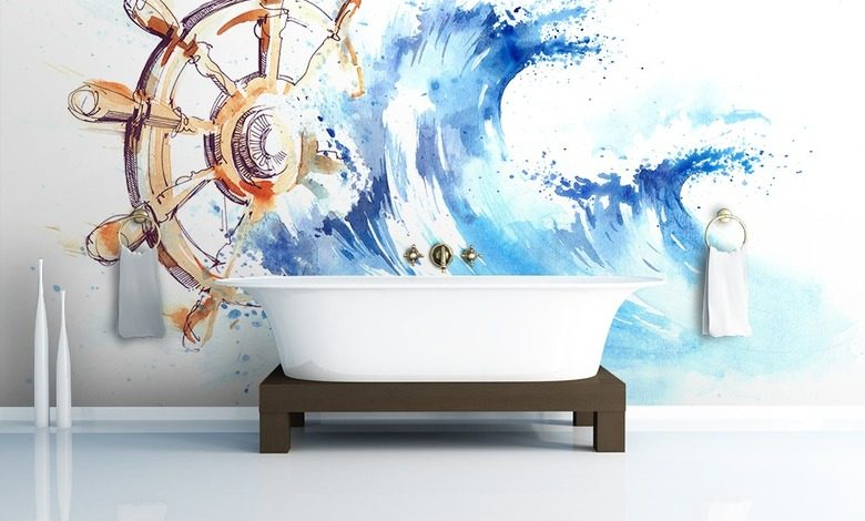take the helm nautical style wallpaper mural photo wallpapers demural