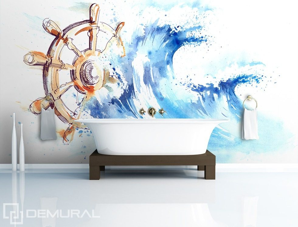 Take the helm! Nautical style wallpaper, mural Photo wallpapers Demural
