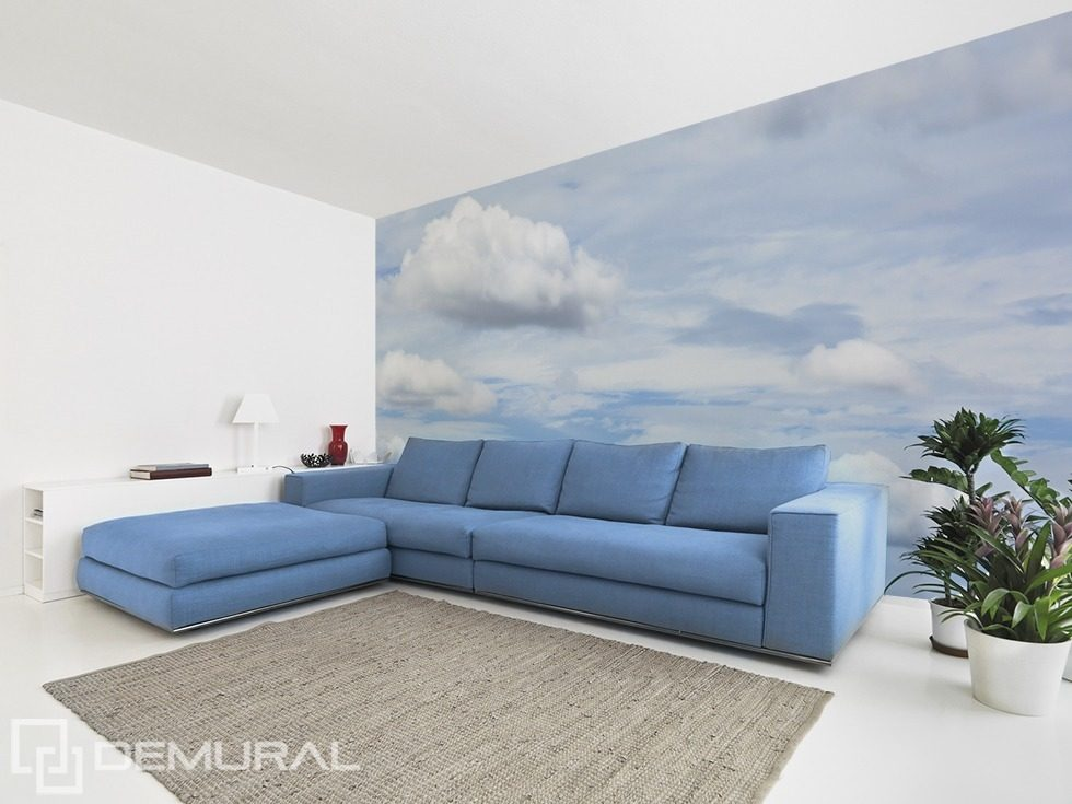 Pleasant moments in the clouds sky wallpaper mural for Clouds wall mural