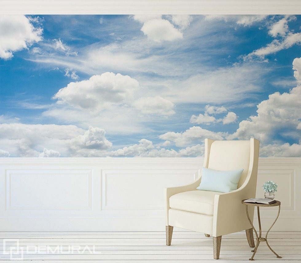 A walk in the clouds sky wallpaper mural photo for Cloud wallpaper mural