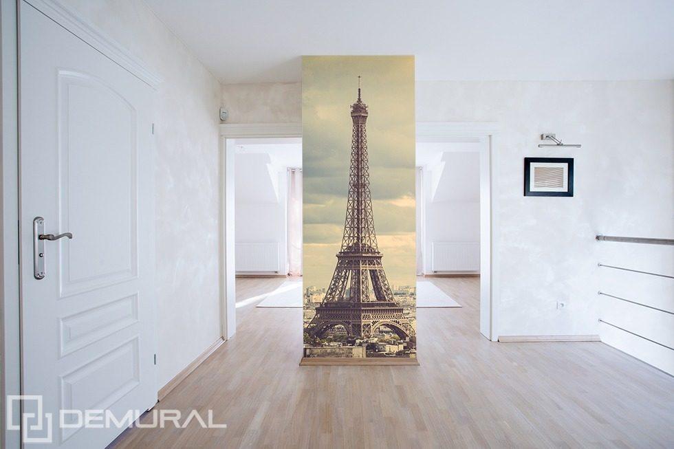 A tour around paris eiffel tower wallpaper mural photo for Eiffel tower mural wallpaper