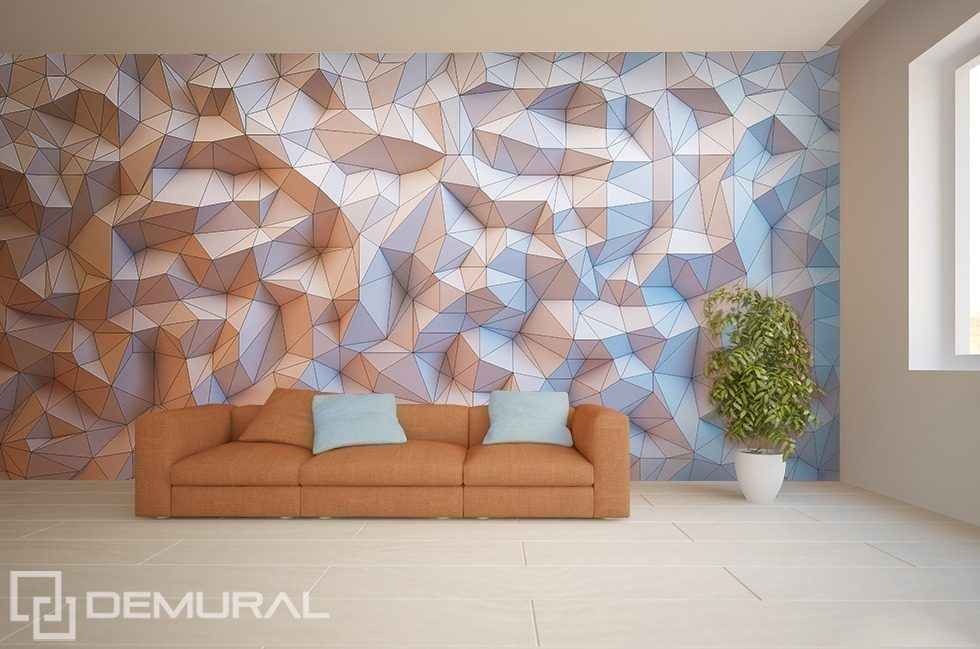 Crumpled paper Three-dimensional wallpaper, mural Photo wallpapers Demural