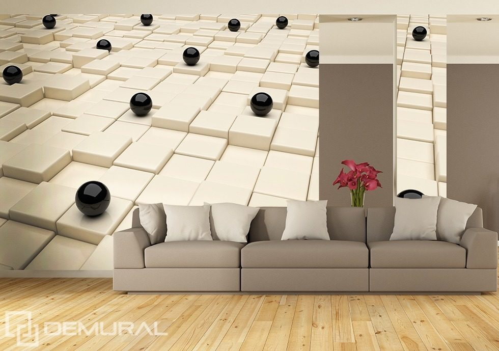 Contrasts only Three-dimensional wallpaper, mural Photo wallpapers Demural