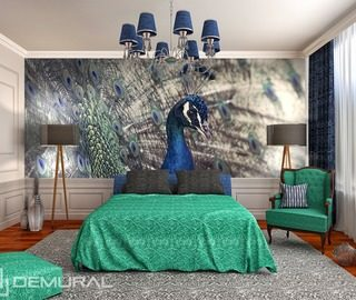 royal peacock animals wallpaper mural photo wallpapers demural