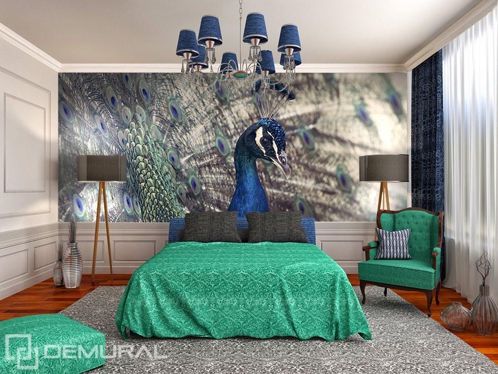 Royal Peacock Animals wallpaper mural Photo wallpapers Demural