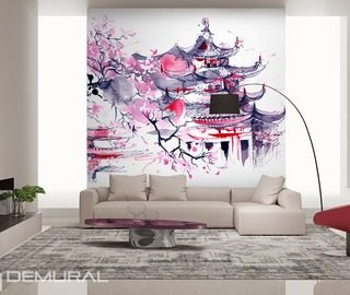 land of the rising sun oriental wallpaper mural photo wallpapers demural