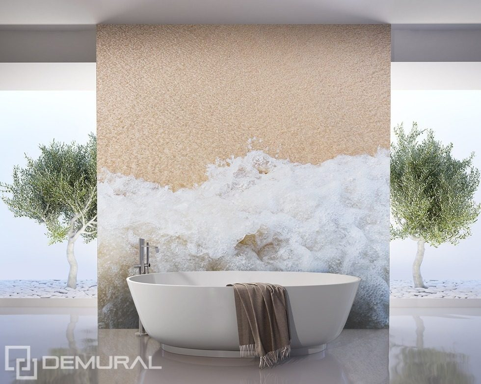 Sea breeze bathroom wallpaper mural photo wallpapers for Bathroom mural wallpaper