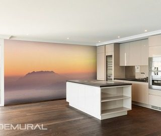 Good Foggy Hills Kitchen Wallpaper Mural Photo Wallpapers Demural Awesome Ideas