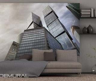 modern city cities wallpaper mural photo wallpapers demural