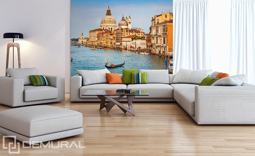 Tour around Venice Living room wallpaper mural Photo wallpapers Demural