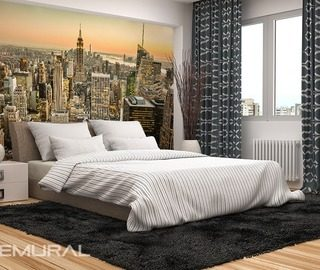 floating on waves of the dreams cities wallpaper mural photo wallpapers demural