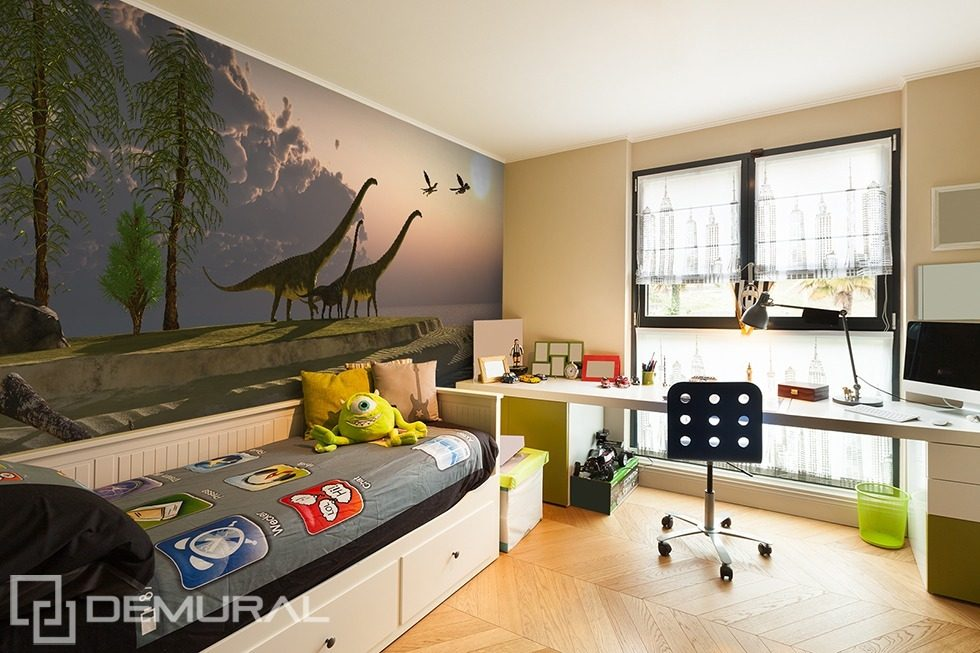 Return to the prehistoric roots Boy's room wallpaper mural Photo wallpapers Demural