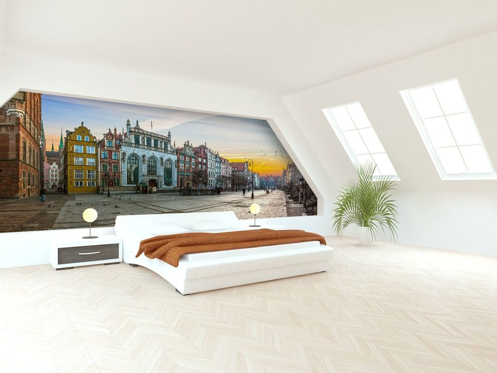 In shutters of townhouse  Cities wallpaper mural Photo wallpapers Demural