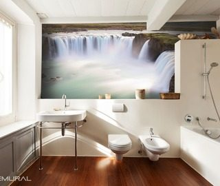 falling from the edge of the world bathroom wallpaper mural photo wallpapers demural