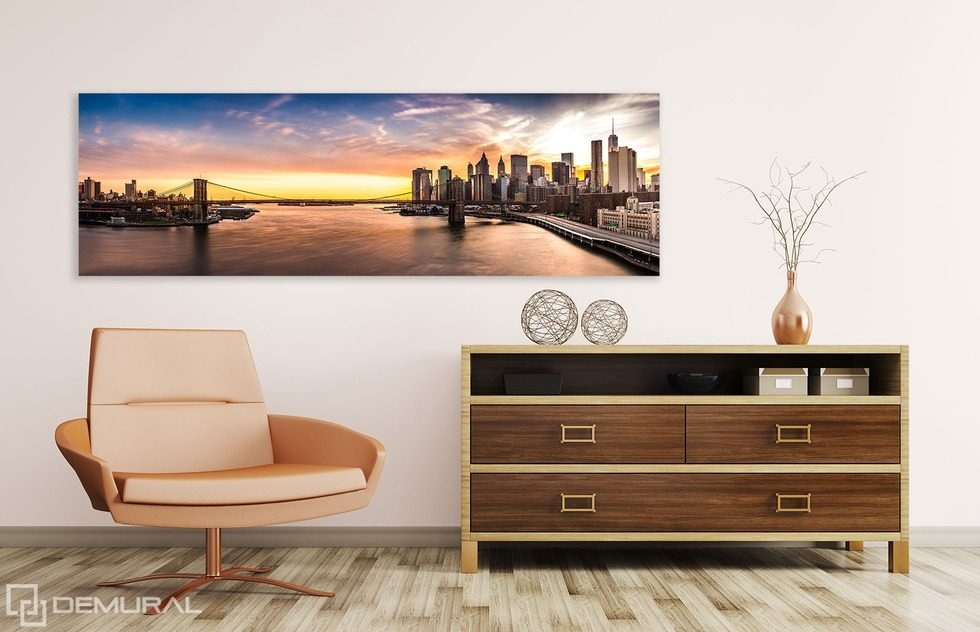 Sunsets in city borders Canvas prints Cities Canvas prints Demural