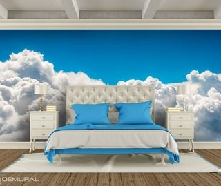 with the head in the clouds sky dreams sky wallpaper mural photo wallpapers demural