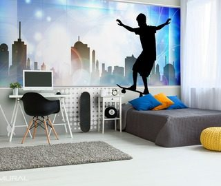 skate is my middle name teenagers room wallpaper mural photo wallpapers demural