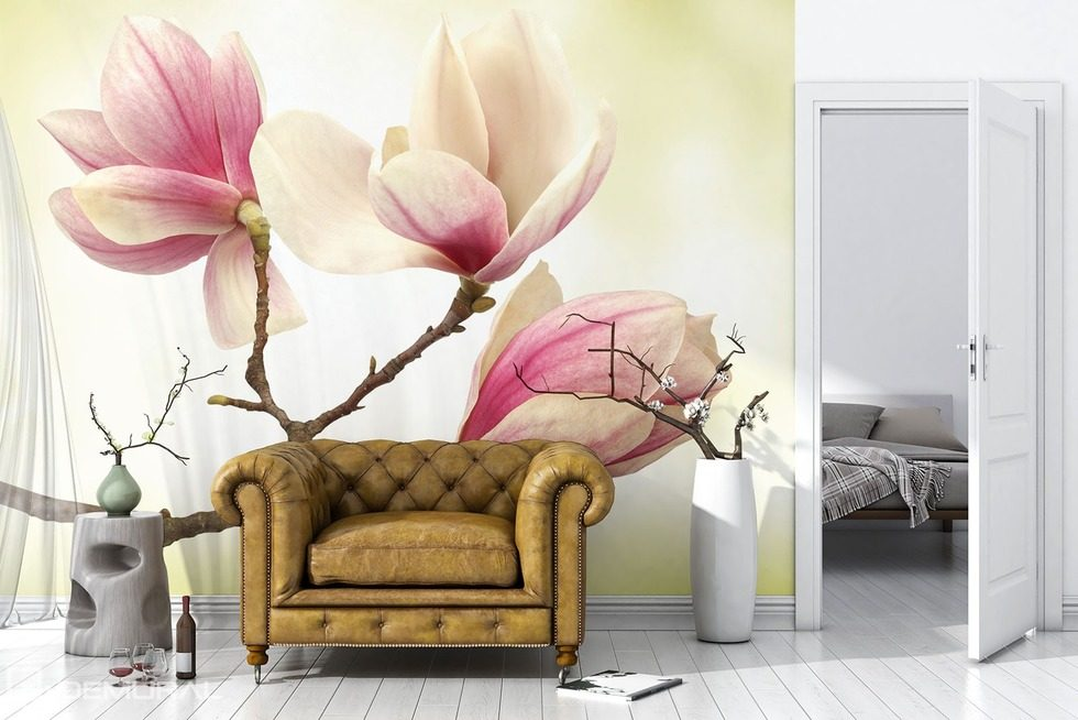Magnolia - Higher level of sensitivity Flowers wallpaper mural Photo wallpapers Demural