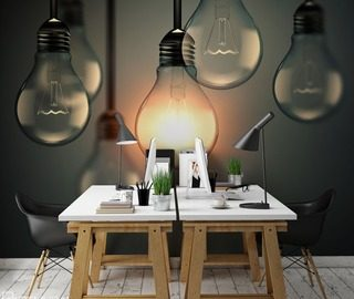 In-shine-of-yellow-lights-office-wallpaper-mural-photo-wallpapers-demural