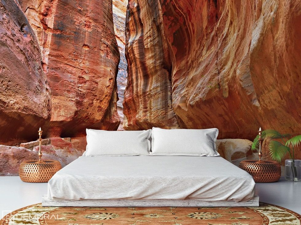 Bedroom in the canyon Bedroom wallpaper mural Photo wallpapers Demural
