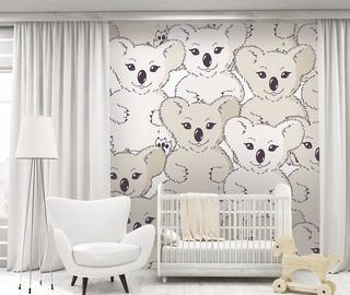 with koala bear on the wall childs room wallpaper mural photo wallpapers demural