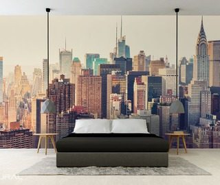 in big city jungle cities wallpaper mural photo wallpapers demural