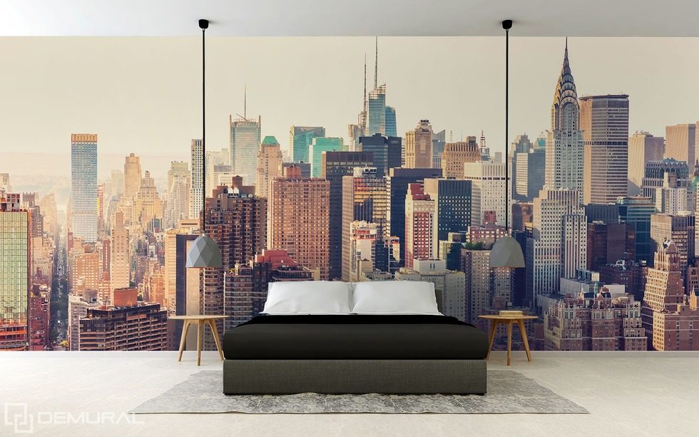 In big-city jungle Cities wallpaper mural Photo wallpapers Demural