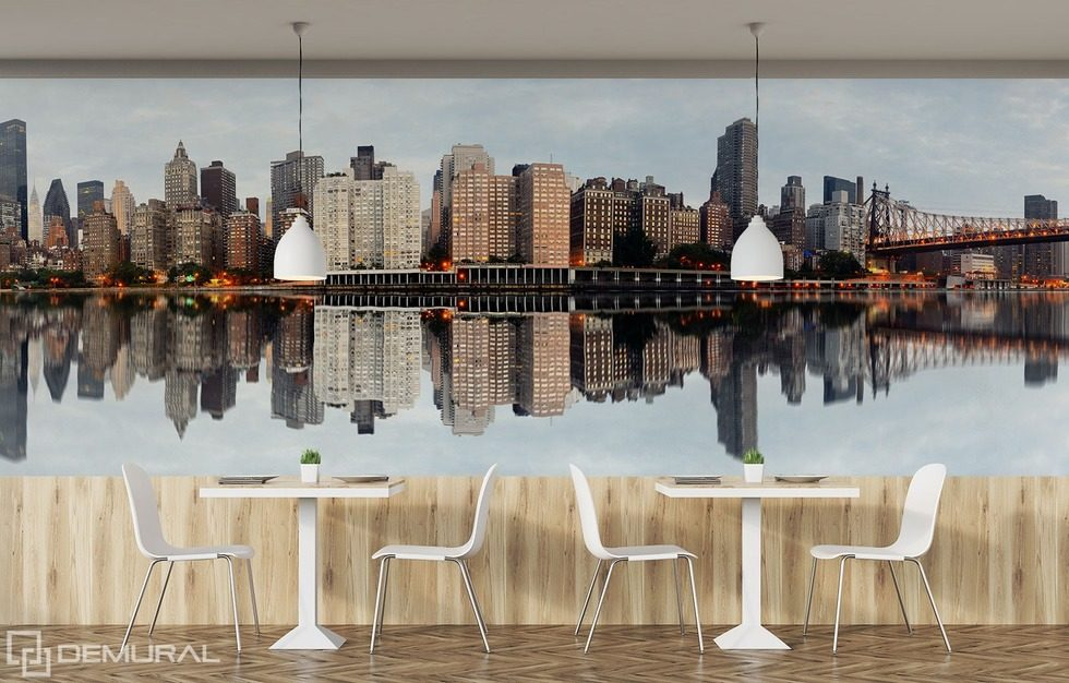 Mirror reflection of the great world Cities wallpaper mural Photo wallpapers Demural