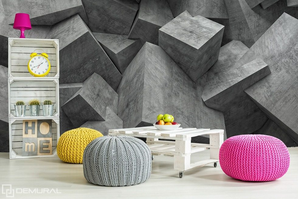 Devil gray - Cubic idealism Three-dimensional wallpaper, mural Photo wallpapers Demural
