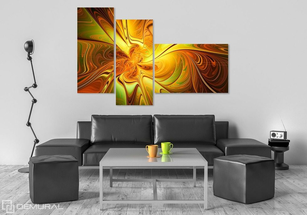 The vision hidden in triptych Canvas prints Abstraction Canvas prints Demural