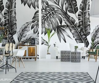 with a monochromatic accent black and white wallpaper mural photo wallpapers demural