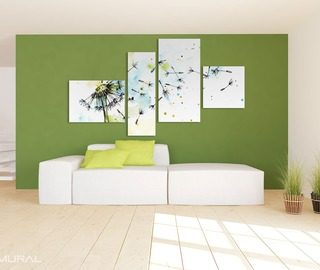 connected by the power of wind dandelions canvas prints in living room canvas prints demural