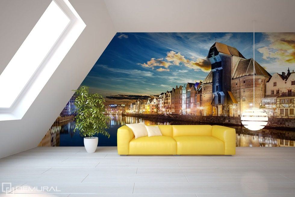 Architecture Inside The Room Living Room Wallpaper Mural