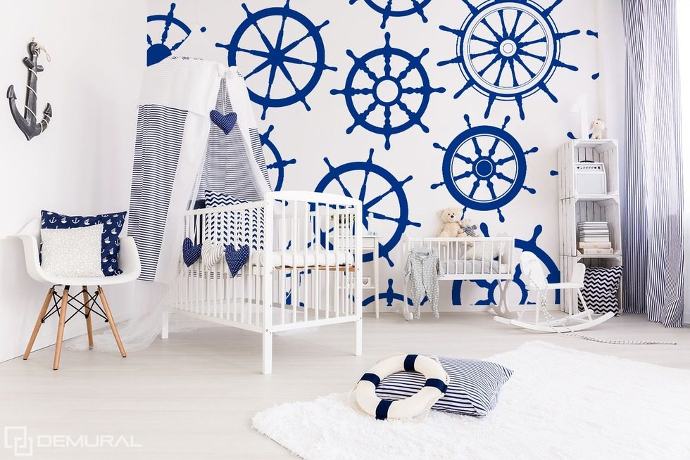 With a naval greeting Nautical style wallpaper, mural Photo wallpapers Demural