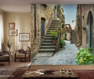standing as a guardian of a tenement streets wallpaper mural photo wallpapers demural