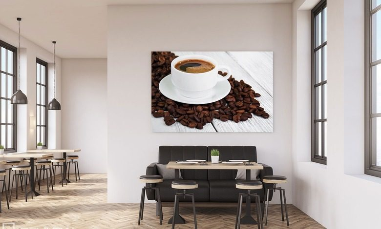 the beauty of the coffee mixtures canvas prints in dining room canvas prints demural