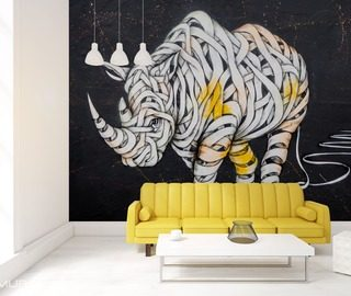 Living room photo wallpaper and wall mural - Demural UK